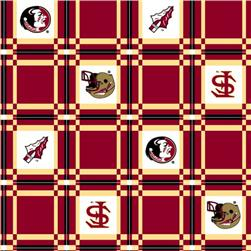 Collegiate Tailgate Vinyl Tablecloth Florida State University Garnet/Gold