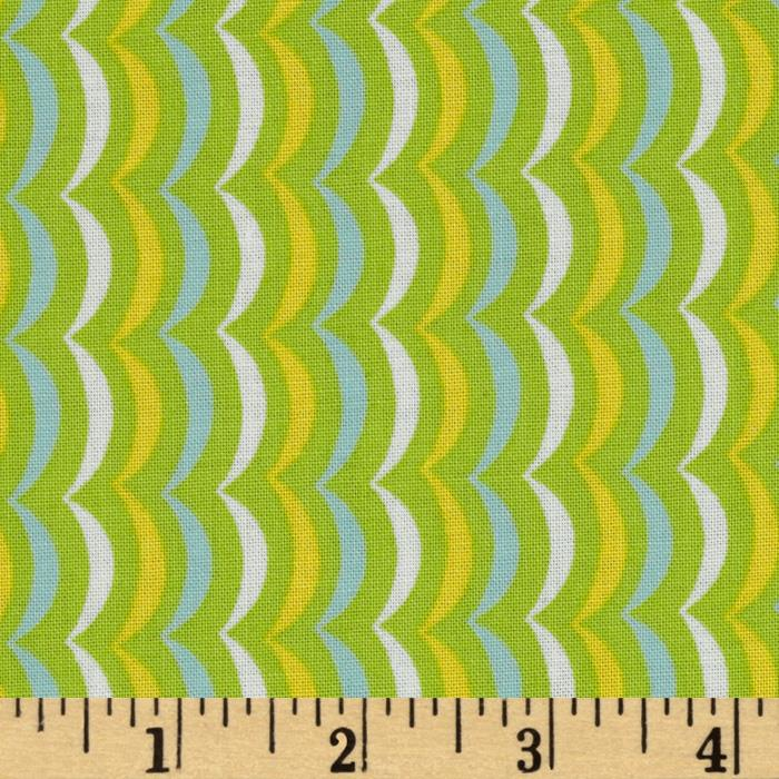 Moda Apple Jack Scallop Stripe Lime
