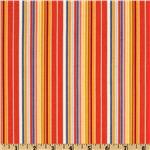 Moda The Ladies Stitching Club Afternoon Stripe Solarium Orange