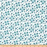Moda Cuzco Confetti Flower Patina Blue