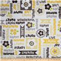 Adorn-it Minky Cuddle Word Play Sunshine