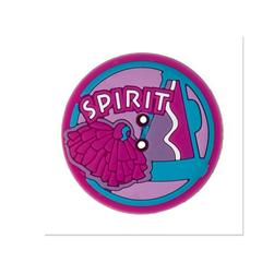 Novelty Button Rubber 1'' Spirit Pink/Multi