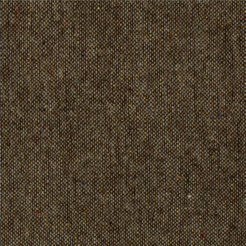 Wool Blend Suiting Sparkle/Brown