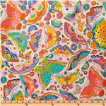 FC-407 Laurel Burch Flying Colors II Butterfly Toss Lavender
