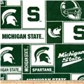 Collegiate Fleece Michigan State University Blocks