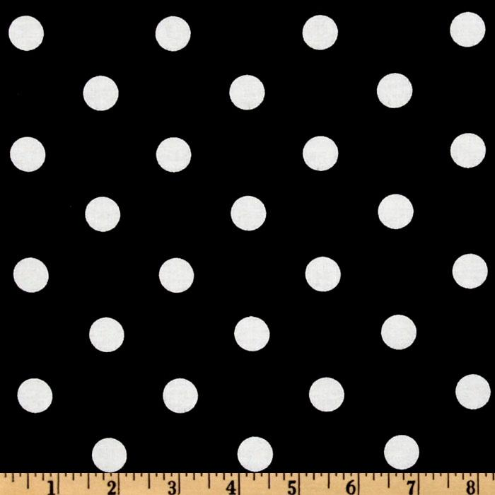Classic Dots & Stripes Large Dots Black