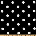 Classic Dots &amp; Stripes Large Dots Black