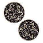 JHB-533 Metal Button 1'' Epona Antique Silver