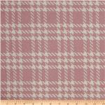 0275437 Wool Blend Coating Large Houndstooth Pink/Ivory