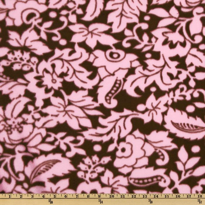 WinterFleece Graphic Flower Pink/Brown
