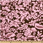 EK-360 WinterFleece Graphic Flower Pink/Brown