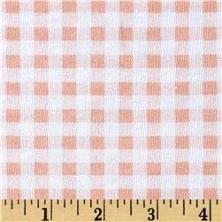 French Terry Gingham White/Peach