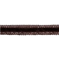 1'' Velvet Lace Trim Brown