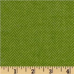 Primo Plaids Flannel Yarn Dyed Herringbone Small Green