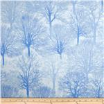 0283563 Timeless Treasures Ice Allover Trees Snow