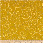 0301809 Woodstock Stitched Swirl Gold