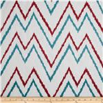 Suburban Home Embroidered Levi Chevron Red/Blue
