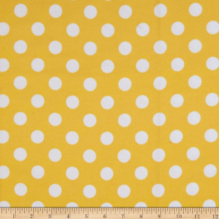 Riley Blake Flannel Basics Dots Medium Yellow