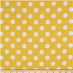 0268140 Riley Blake Flannel Basics Dots Medium Yellow