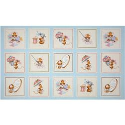Anybody Can Sew Mice Sewing Panel Blue