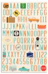 Martha Stewart Crafts Stickers Travel Icon Alphabet
