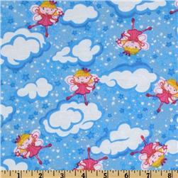 Comfy Flannel Angel Stars Blue