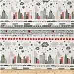 0292488 The Big Apple Skyline Grey/Red