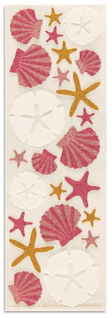 Martha Stewart Crafts Glitter Sea Shells &amp; Sand Dollar Stickers