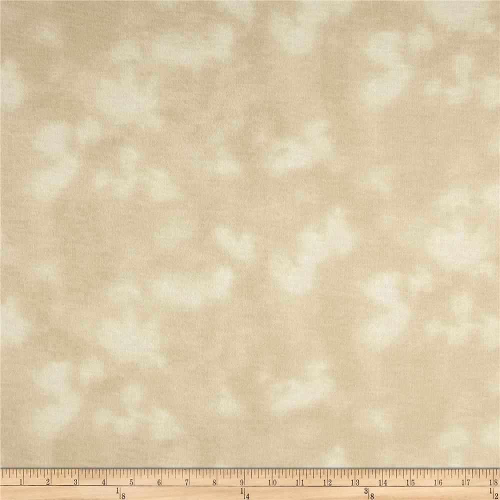 108&#39;&#39; Wide Mottled Flannel Cream
