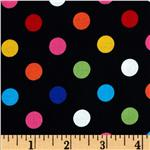 Brights &amp; Pastels Basics Polka Dot Black/Multi