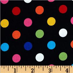 Brights & Pastels Basics Polka Dot Black/Multi