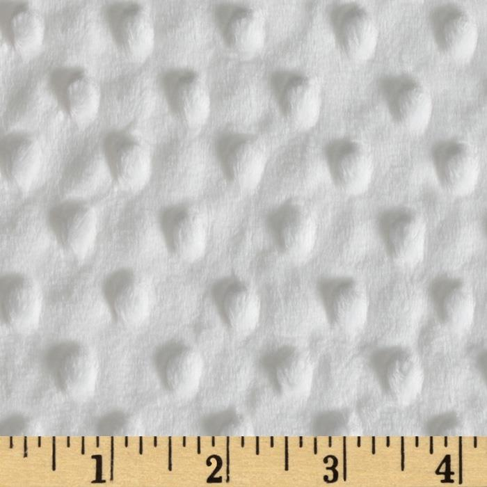Minky Cuddle Dimple Dot Winter White