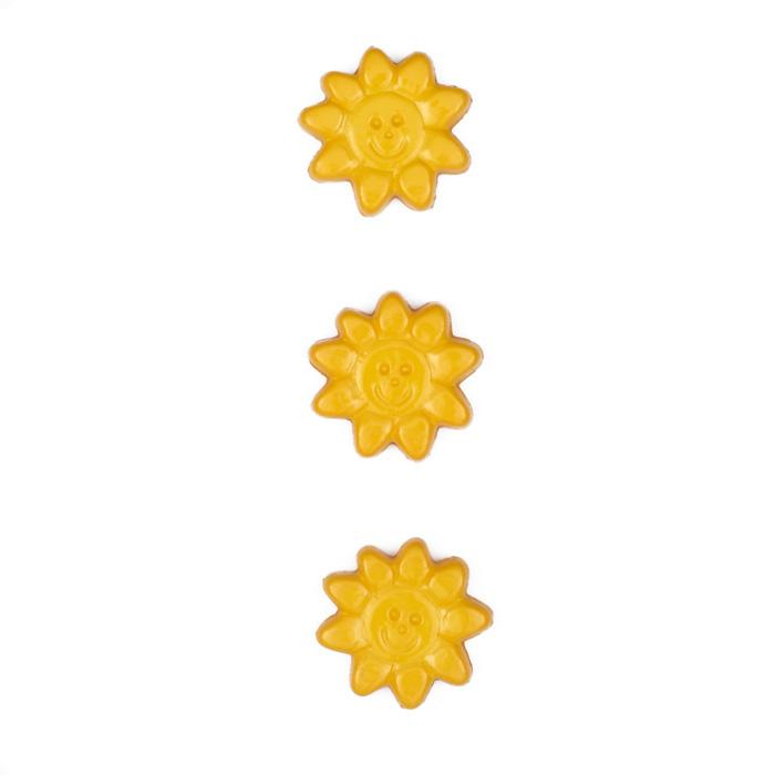 Novelty Button 5/8'' Solar Fun Yellow
