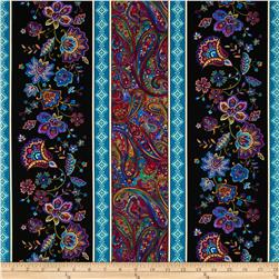 Timeless Treasures Miraval Border Stripe Multi