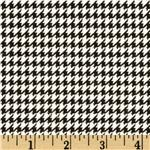 FT-564 Comfy Flannel Houndstooth Black