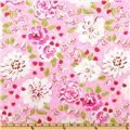 Tea Garden Laminated Cotton Ying Ming Floral Fuchsia