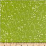 202469 Whoo's Cute Flannel Swirl Tree Green
