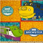 Fleece Chuggington Blocks Yellow