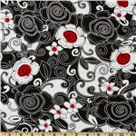 Swirl Floral Black