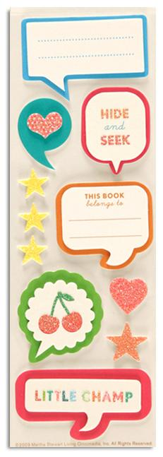 Martha Stewart Crafts Stickers Bubble Quotes