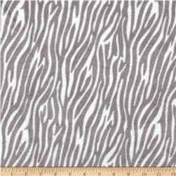 Minky Plush Zebra Grey