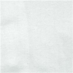Cotton Rib Knit White