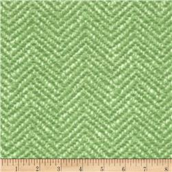 Snow Babies Flannel Herringbone Tweed Green