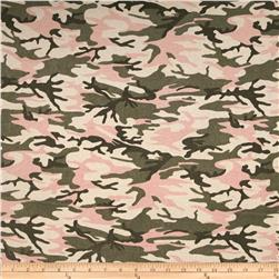 Cotton Thermal Knit Camo Pink