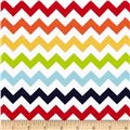 Riley Blake Cotton Jersey Knit Chevron Small Rainbow