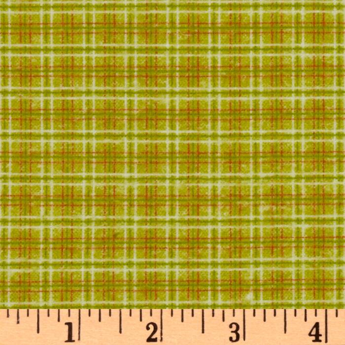 Fox Trails Flannel Plaid Lime