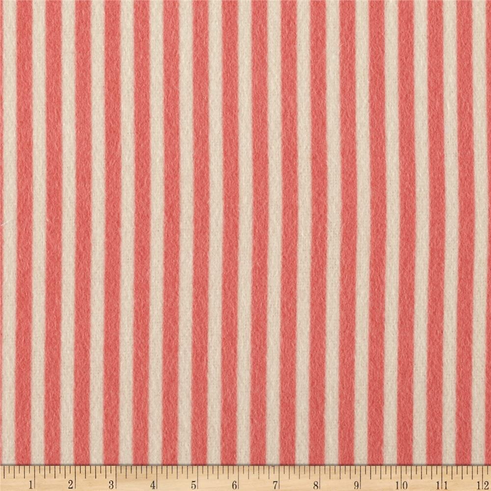 Moda Marmalade Flannel Stripe Strawberry
