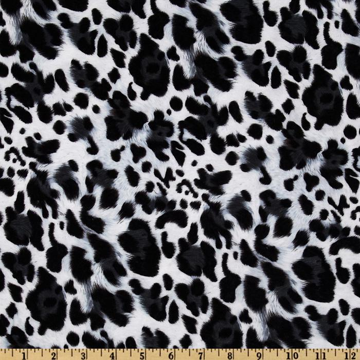 Laguna Stretch Cotton Jersey Leopard Snow