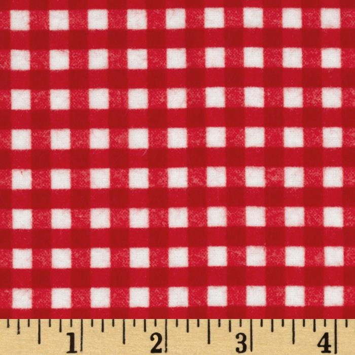 Riley Blake Flannel Basics Gingham Red
