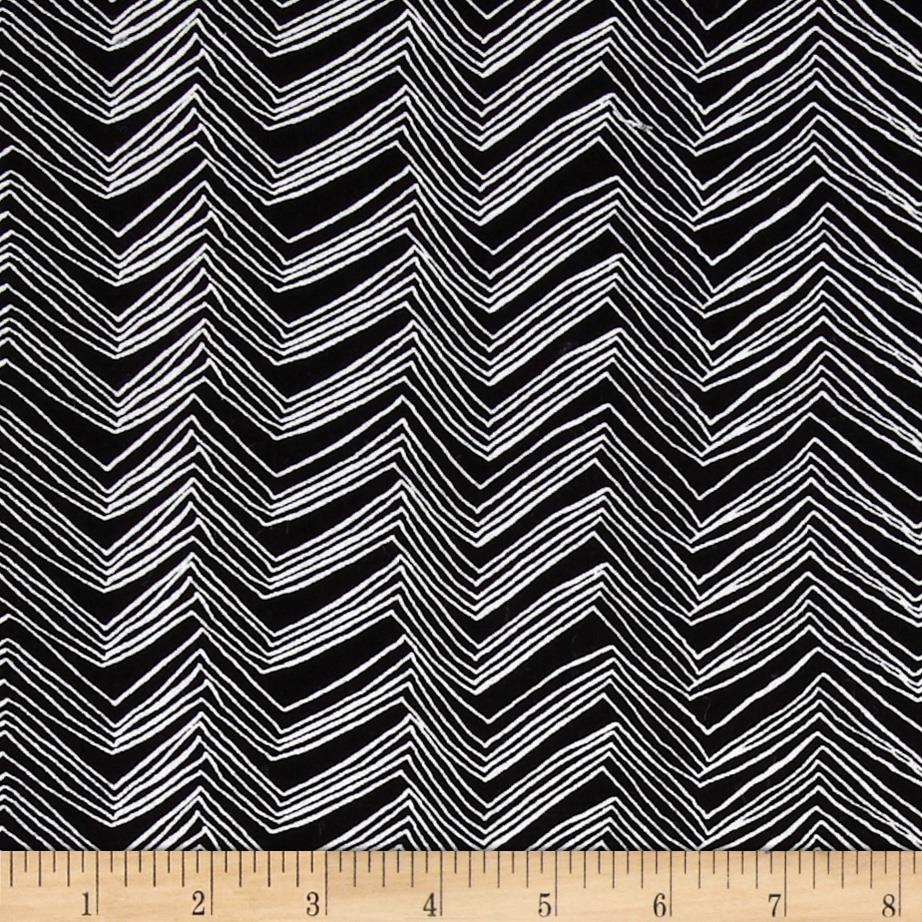 Timeless Treasures Chevron Black/White